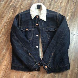 H&M Shearling Denim Jacket
